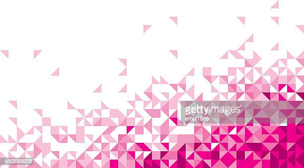Abstract background of pink and white triangles