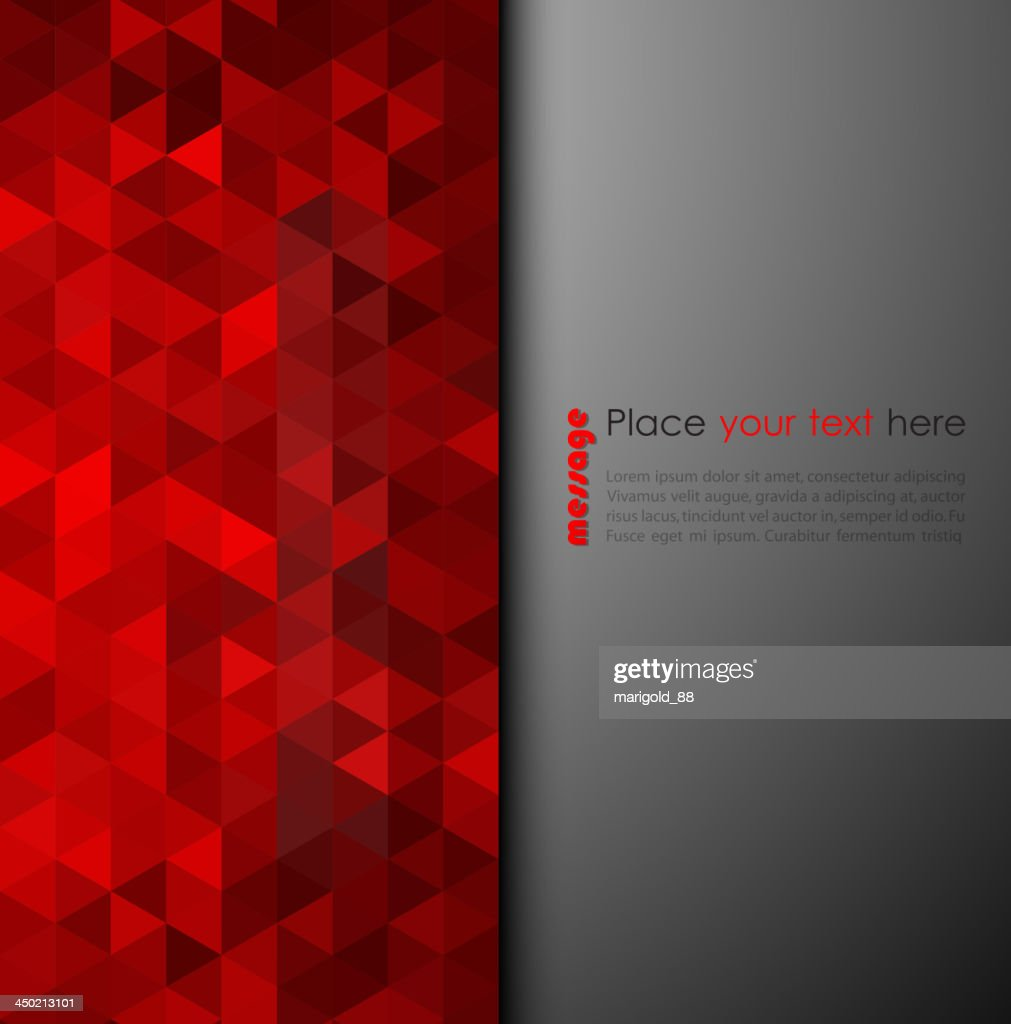 Abstract background of red triangles
