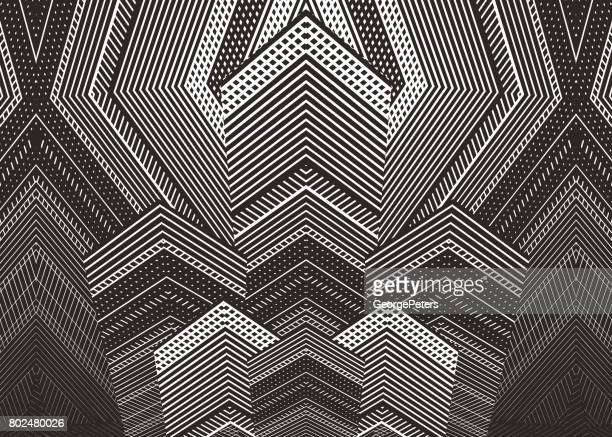 Abstract background of Skyscrapers and half tone pattern