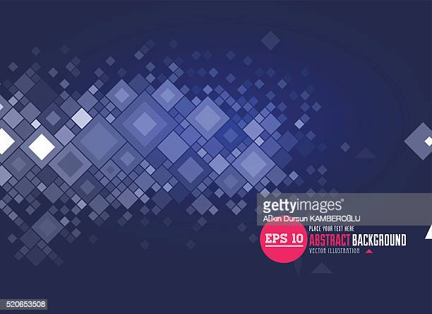 Abstract background on blue