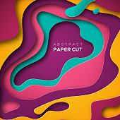 Abstract background, paper cut