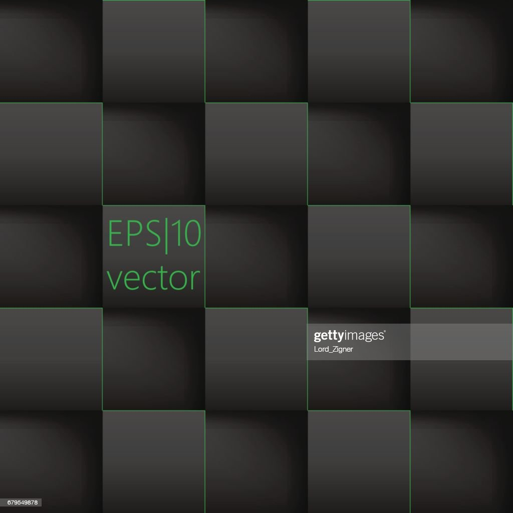 Abstract background paper squares. Vector Illustration