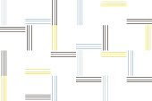 Abstract background pattern made with thin lines in. Modern vector art.