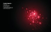 abstract background red circuit hexagon pattern design technology innovation concept