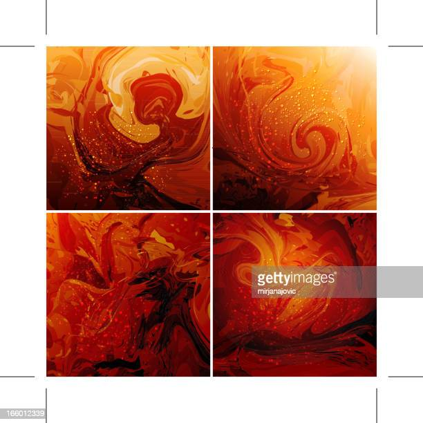 abstract background - set - lava stock illustrations, clip art, cartoons, & icons