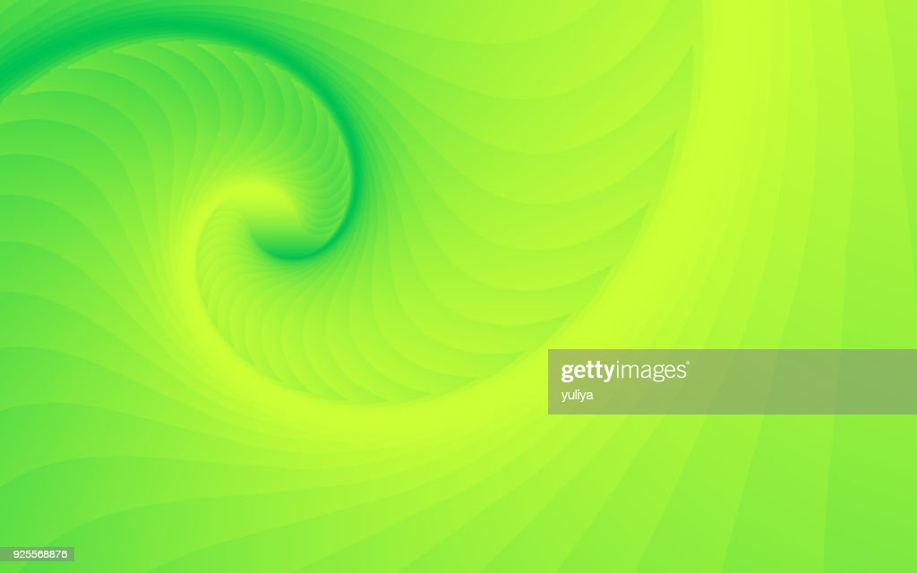 Abstract Background Spiral Wave Pattern Green Yellow Color