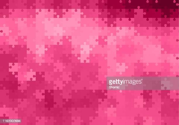 abstrakter hintergrund - puzzle stock-grafiken, -clipart, -cartoons und -symbole