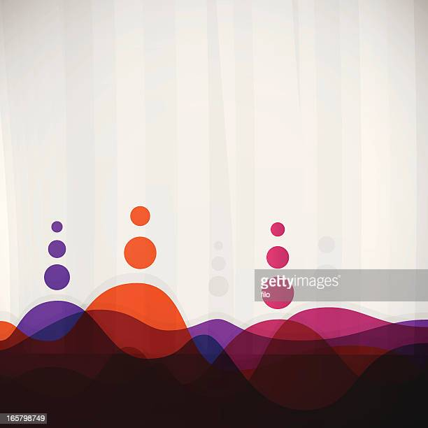 abstract background - horizon over water stock illustrations