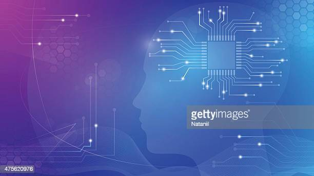 abstract background - human head stock illustrations