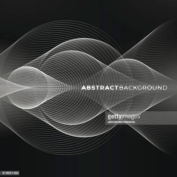ilustrações, clipart, desenhos animados e ícones de fundo abstrato  - oscilação curvada
