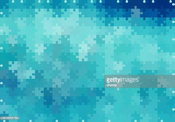 abstract background - puzzle stock illustrations