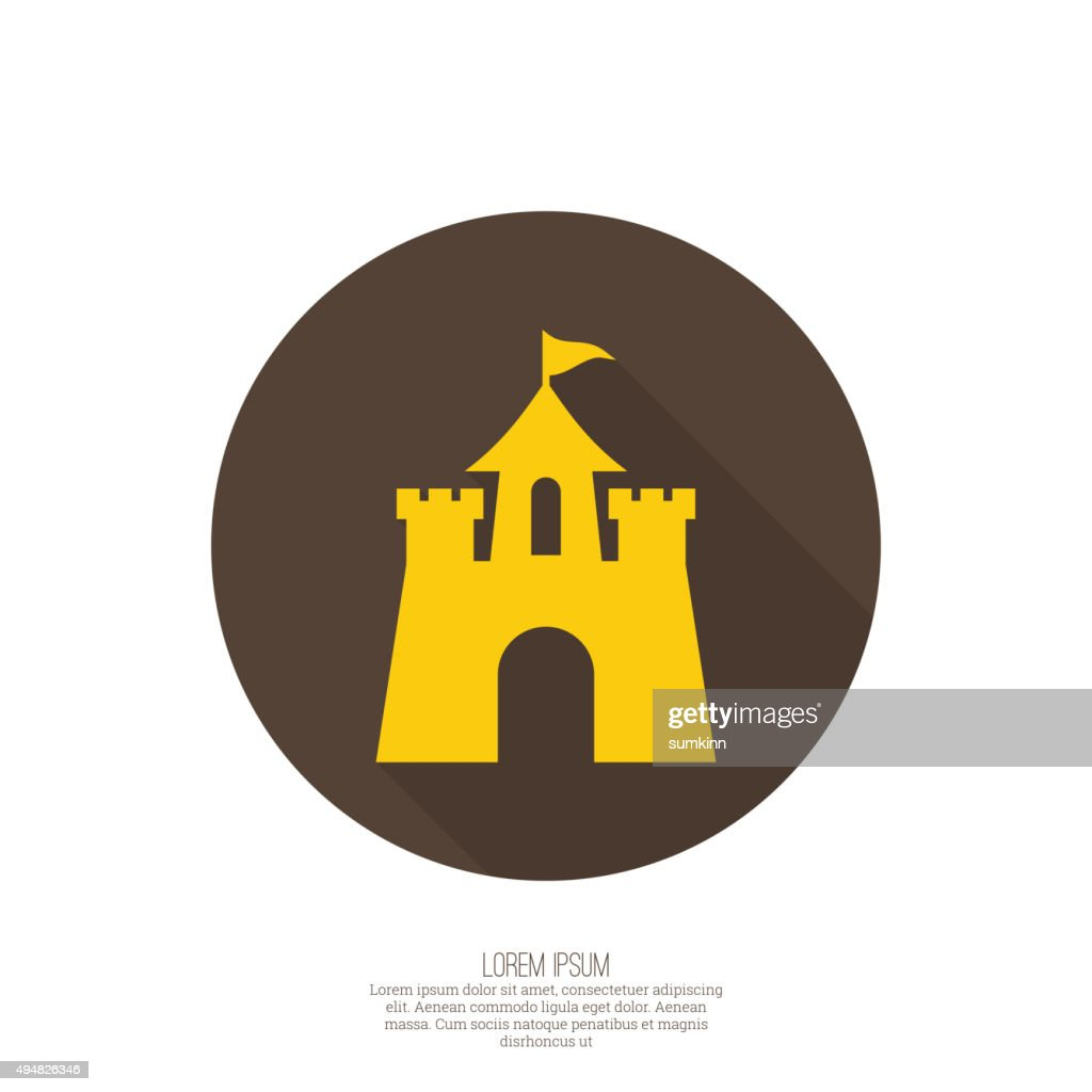 Abstract background with a medieval fortress
