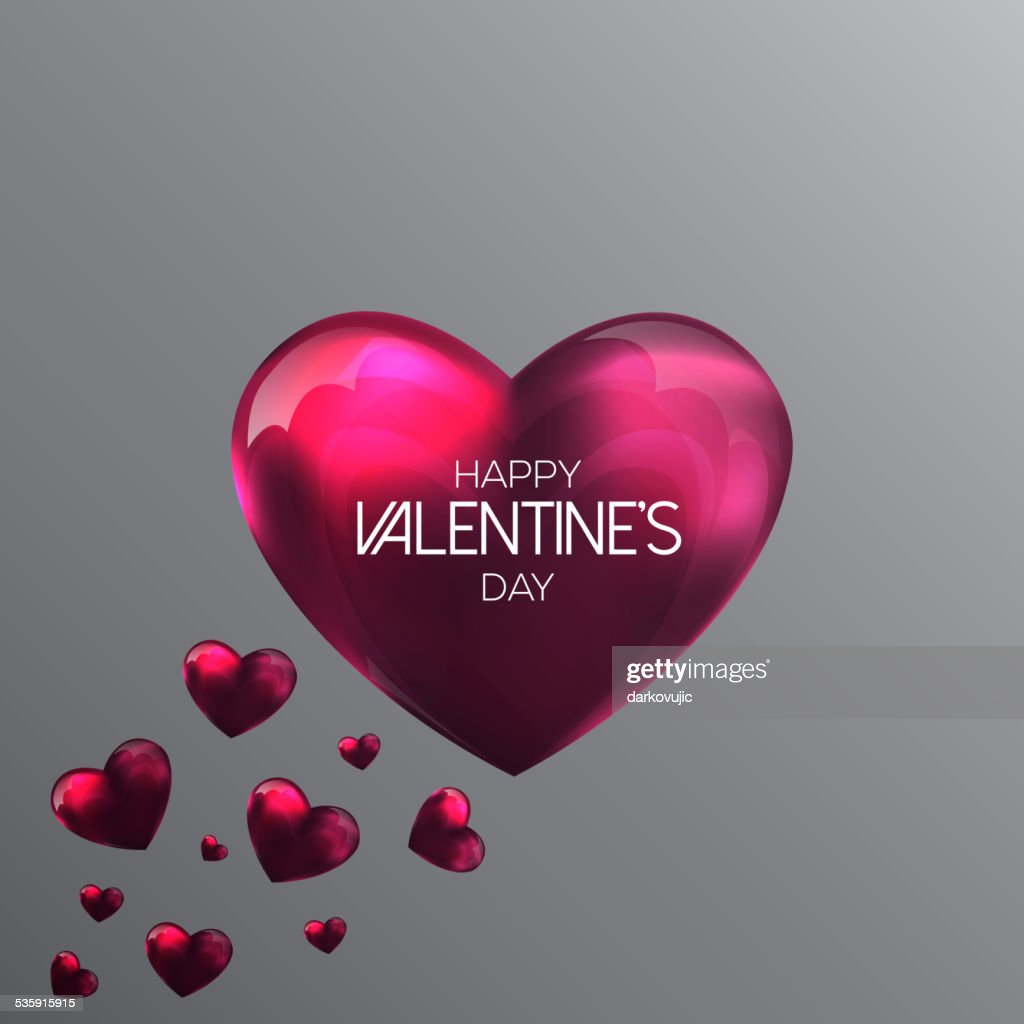 Abstract background with a pink valentine hearts : Vector Art