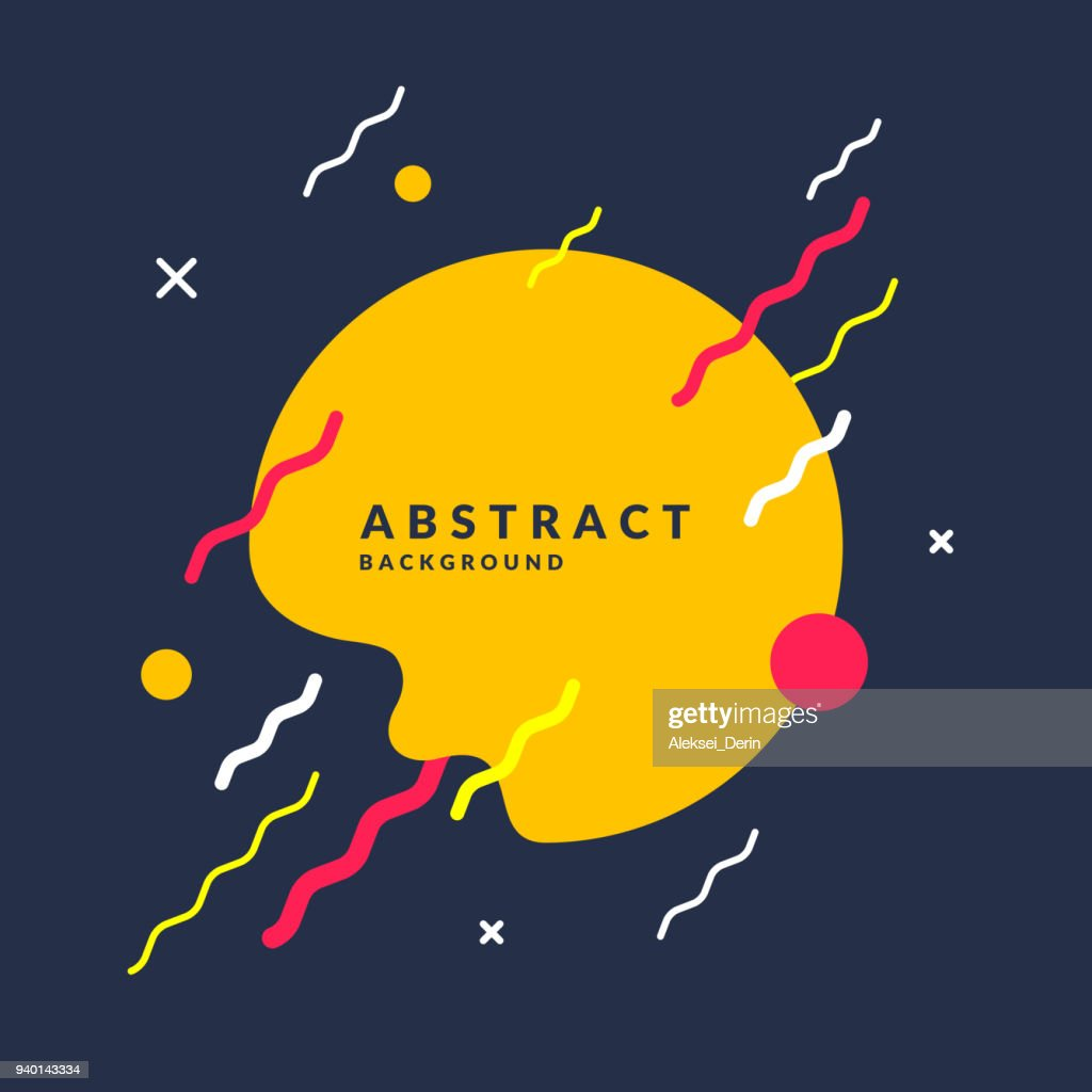 Abstract background with a splash, lines and round in a flat minimalist style. Bright vector illustration