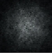 Abstract background with black and gray crystals