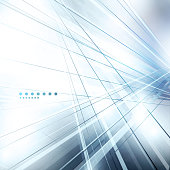 Abstract background with blue lines and dots