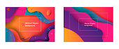 Abstract background with color elements fluid gradient. Dynamic style banner design form liquid concept. Creative illustration for poster, web, landing, page, cover, ad, greeting, card, promotion.