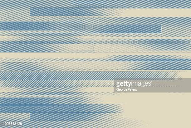 abstract background with colorful horizontal bars - half tone stock illustrations