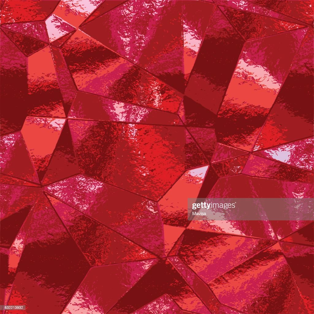 Abstract background with crumpled metal texture resembling scratched red foil