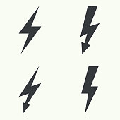 Abstract background with electric lightning