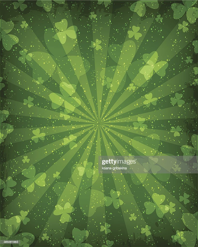 Abstract background with emphasis on clover leaves