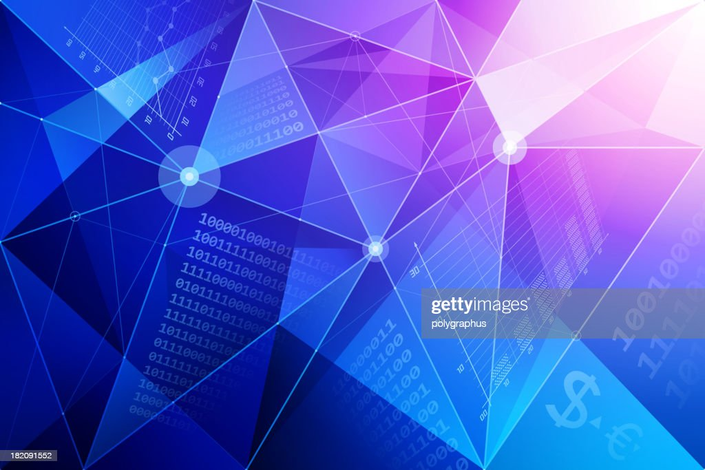 Abstract background with financial symbols