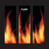 Abstract background with fire flames frame and copy space for te