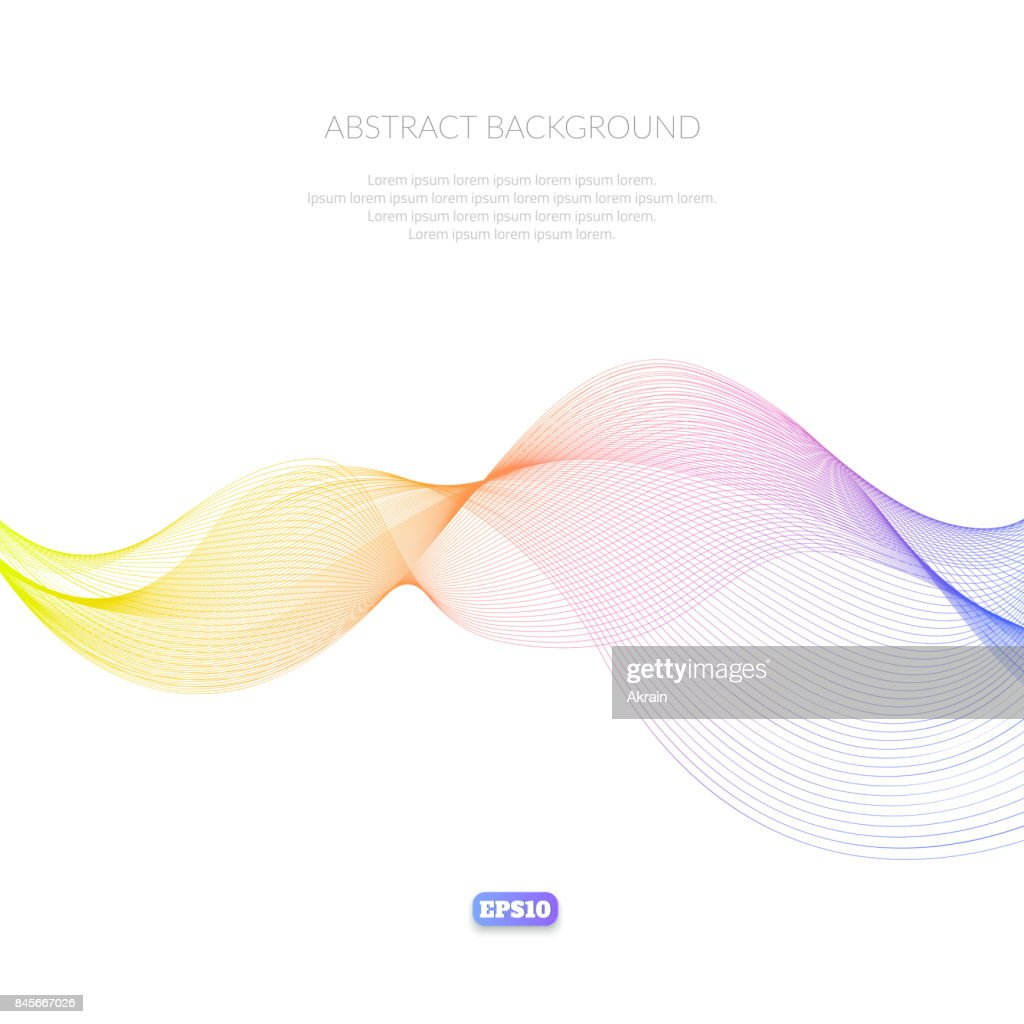 Abstract background with geometric pattern of lines. Wave and distortion of forms. Glide in the air.