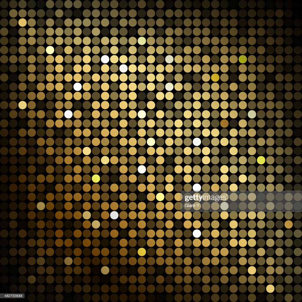 Abstract background with gold circles