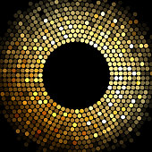 Abstract background with gold disco lights