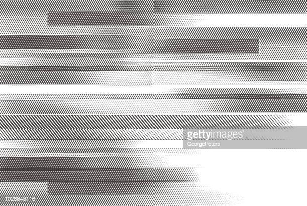 illustrazioni stock, clip art, cartoni animati e icone di tendenza di sfondo astratto con barre orizzontali - bianco e nero