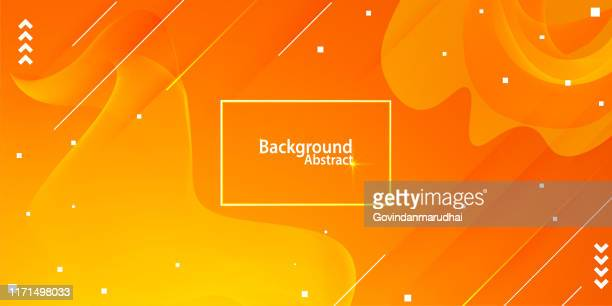 illustrazioni stock, clip art, cartoni animati e icone di tendenza di abstract background with orange and yellow gradient - arancione