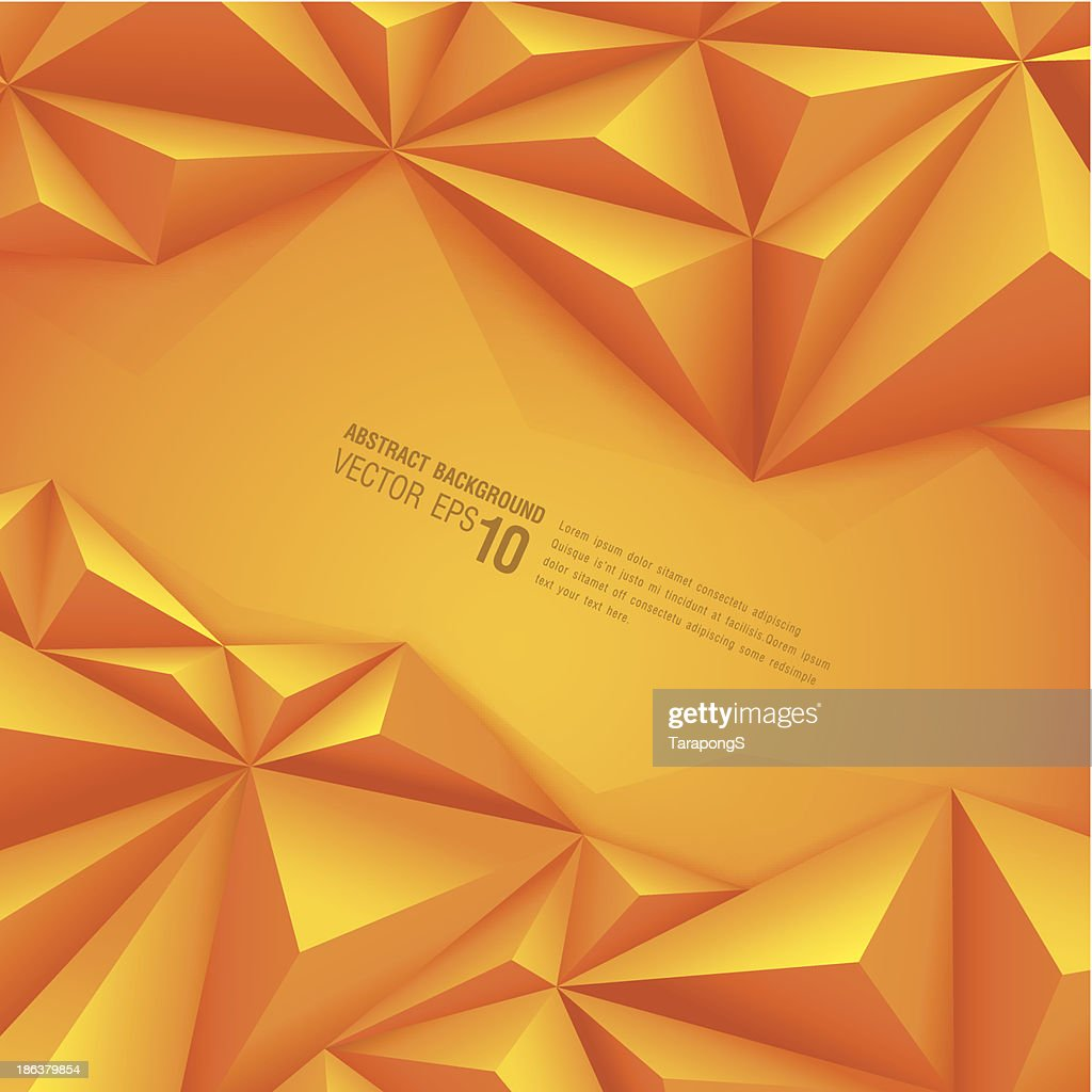 Abstract background with orange polygonal design