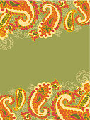 abstract background with paisley