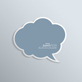 Abstract background with paper speech bubble