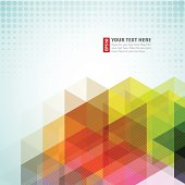 Abstract background with rainbow color shapes