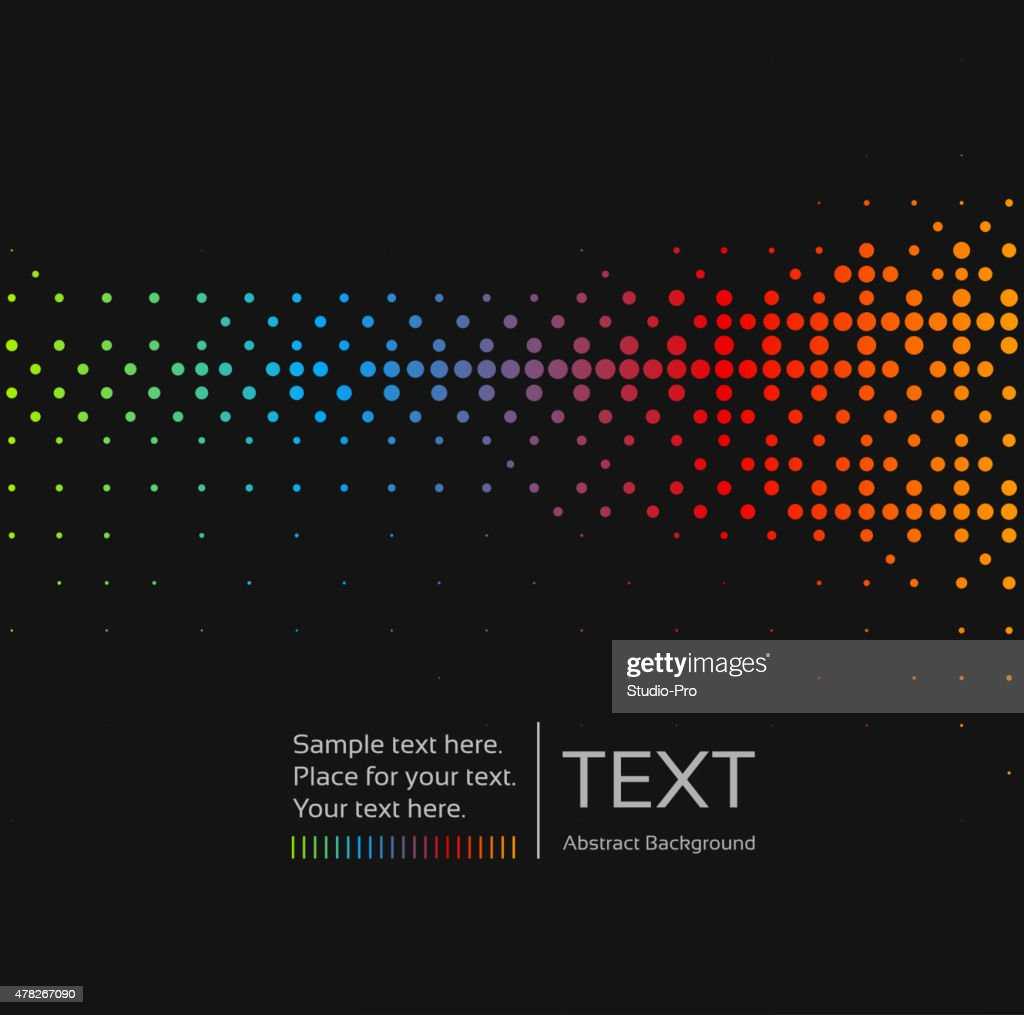 Abstract background with rainbow mosaic