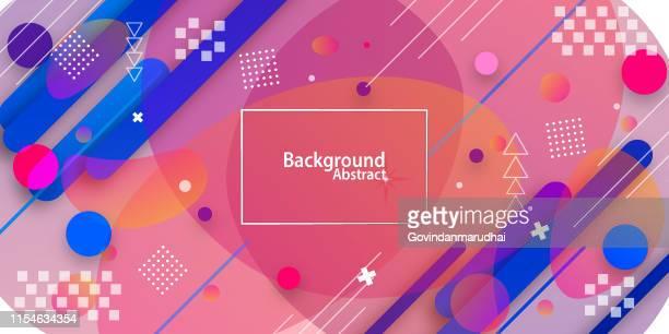 abstrauer hintergrund mit rotem und blauem farbverlauf - bürsten stock-grafiken, -clipart, -cartoons und -symbole