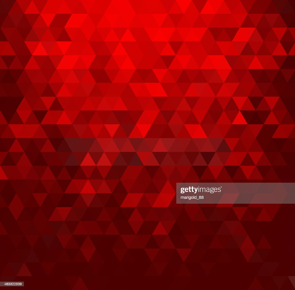 Abstract background with red crystals