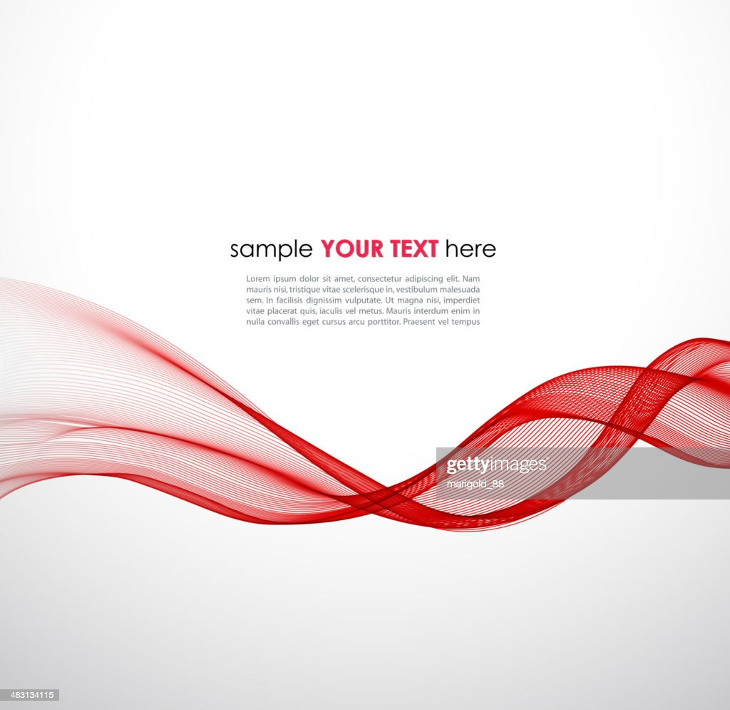 Abstract background with red, striped wave pattern