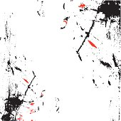 abstract background with splashes of black and red paint