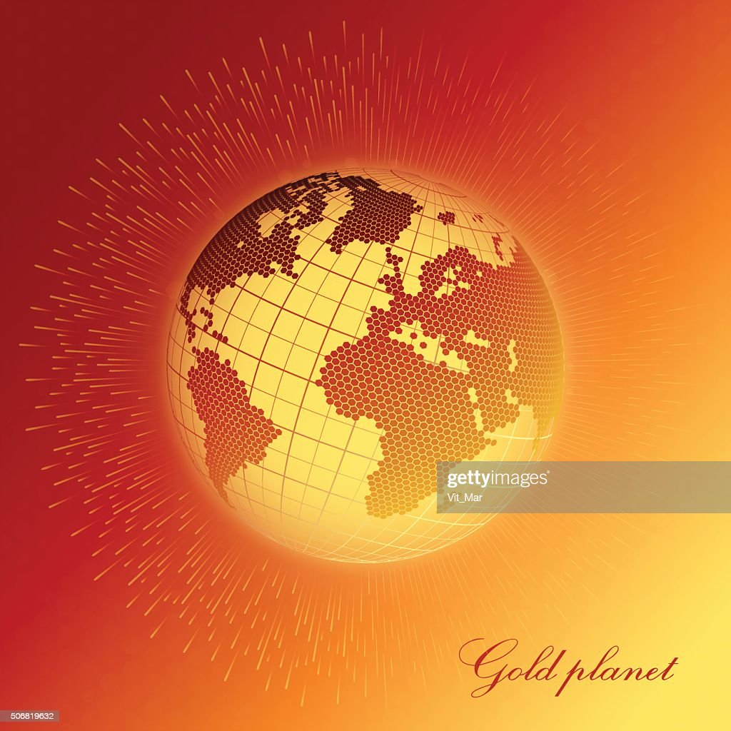 Abstract background with the image of the Earth