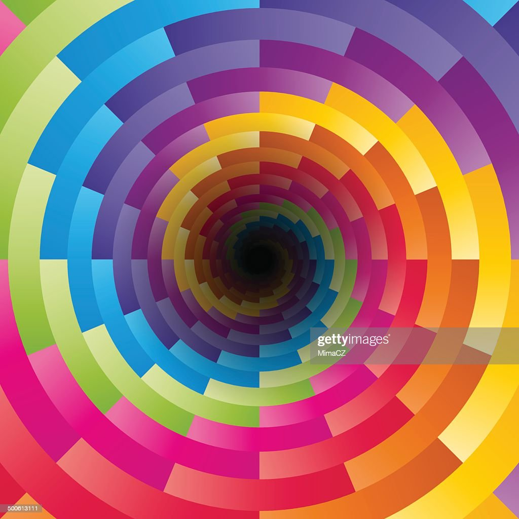 Abstract background with the motif of children's kaleidoscope