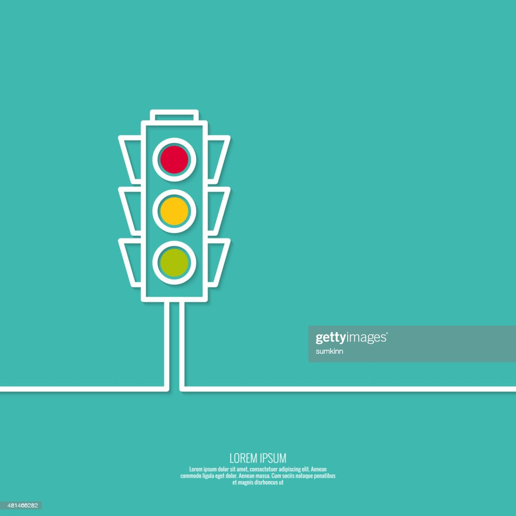 Abstract background with traffic lights