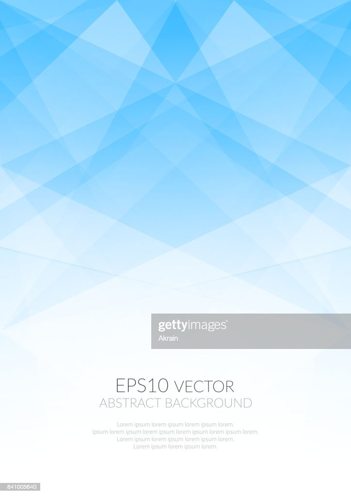 Abstract background with translucent geometric shapes. Shades of colors.