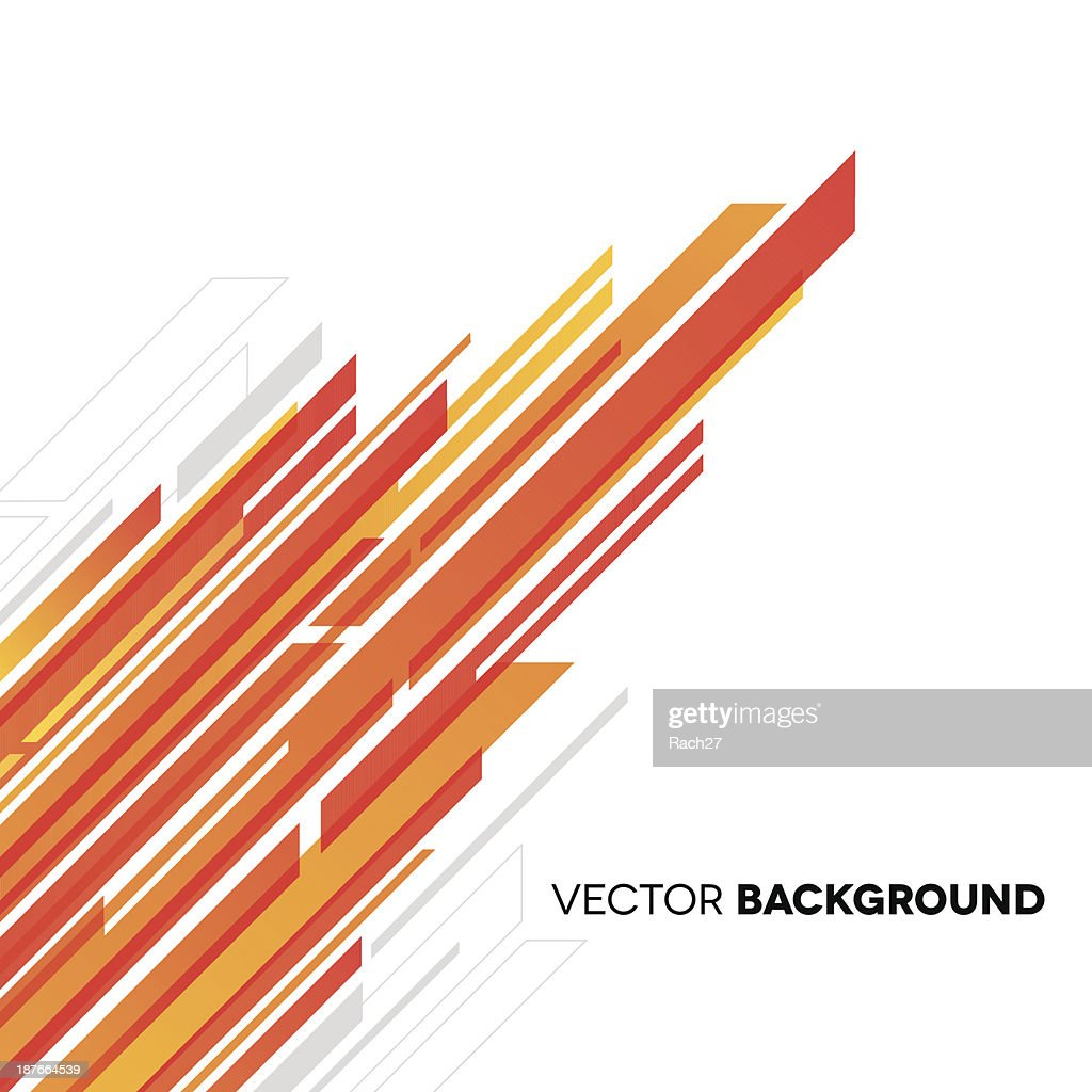 Abstract background with white, yellow and orange rectangles