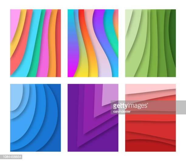 abstract backgrounds - bright colour stock illustrations