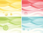 Abstract Backgrounds with Flower Element