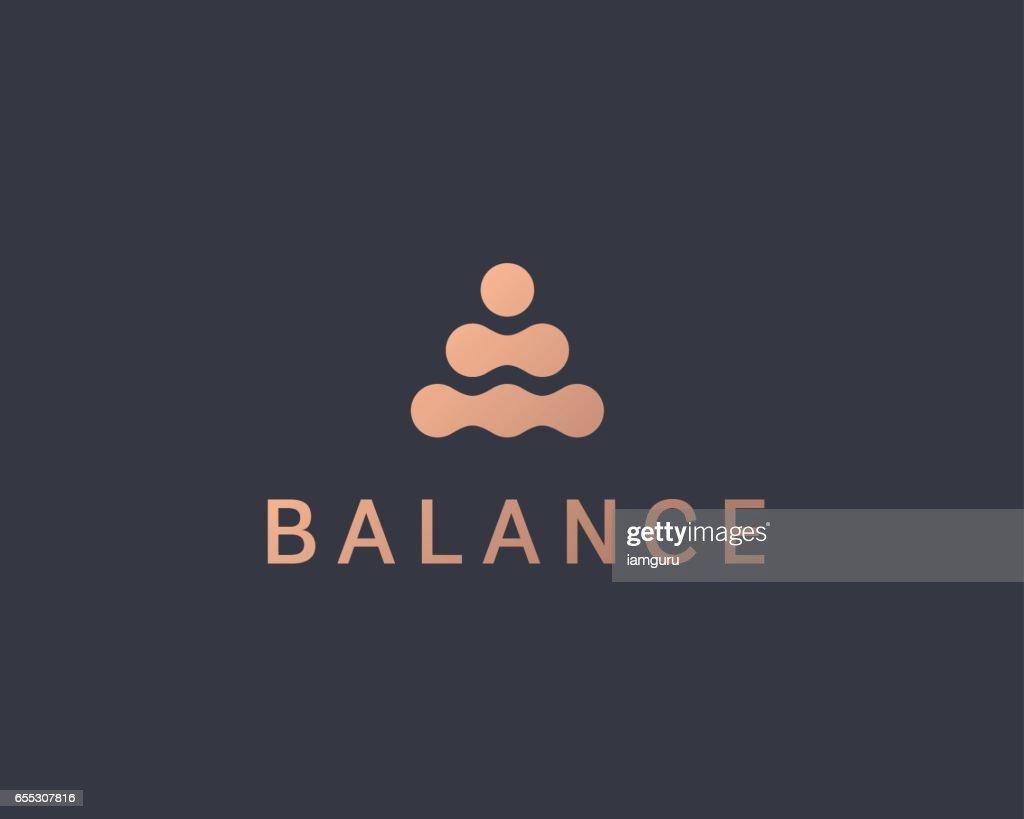 Abstract balance vector logo design template. Spa harmony minimal logotype.
