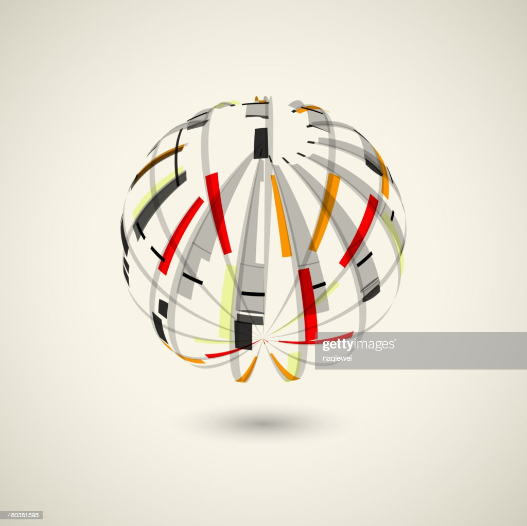 abstract ball style shape technology concept background